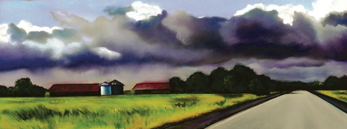 """""""Into the Storm"""" pastel, 12x5"""""""