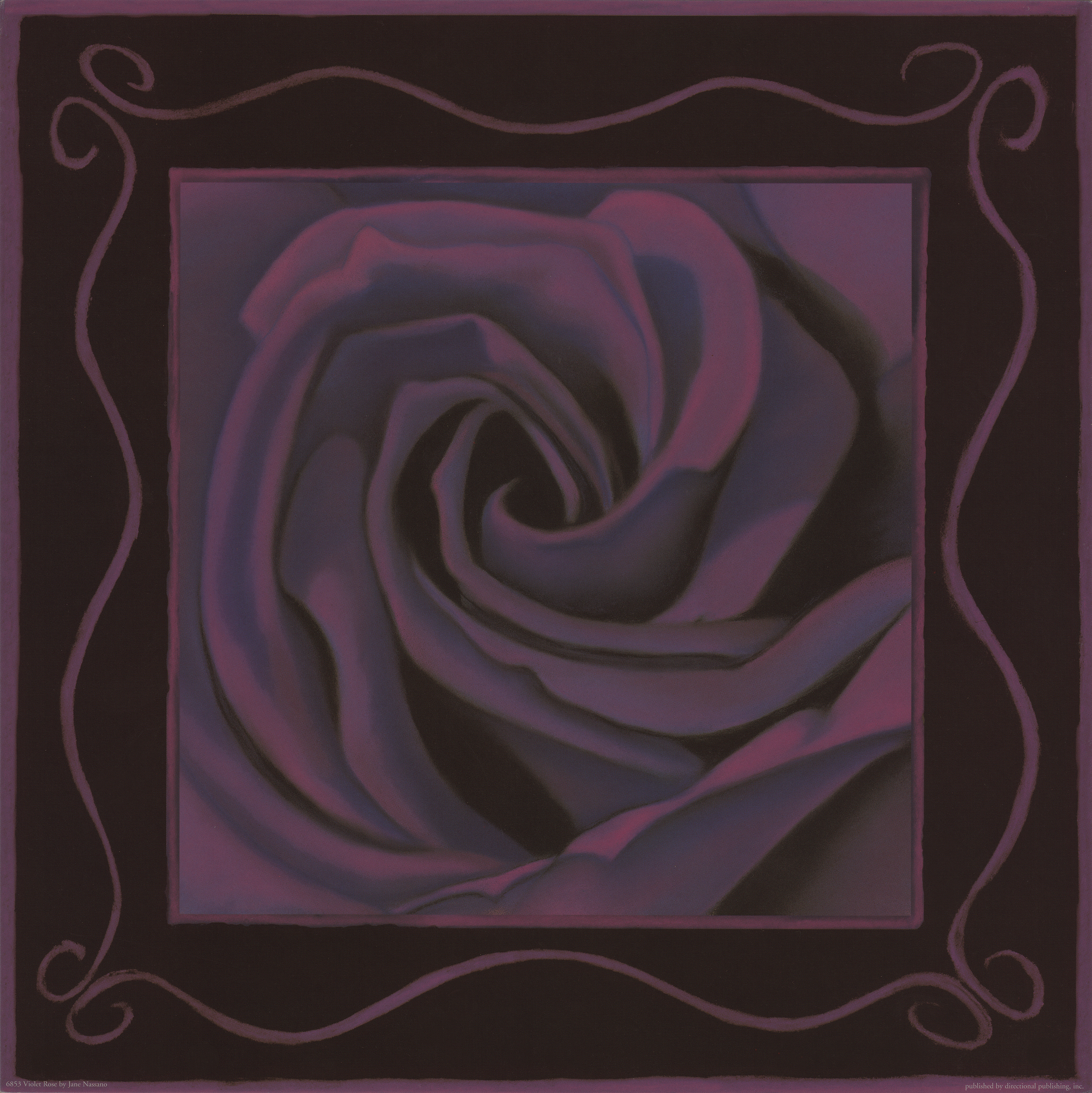 """Purple Rose"" pastel, 10x10"""
