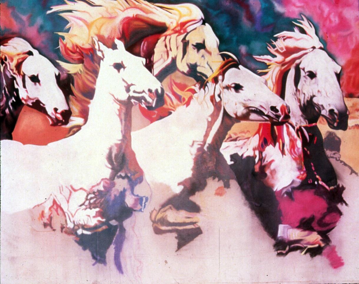 """Forever Run Wild"" pastel, 84x60"""