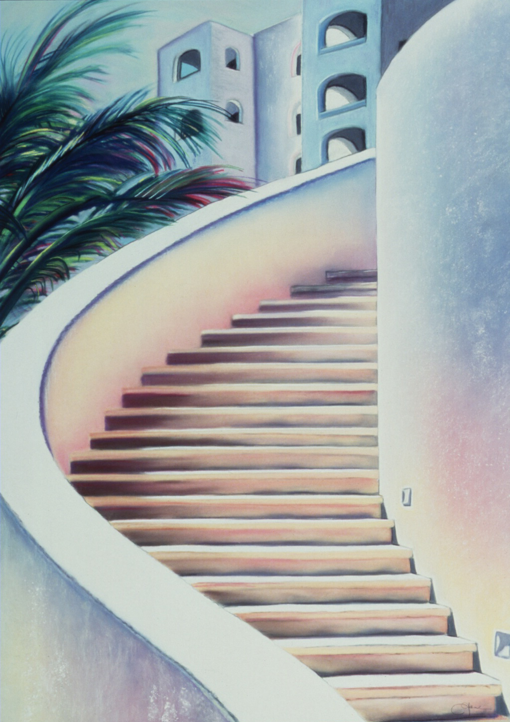 """Escaleras"" pastel, 18x26""    AVAILABLE / $450"