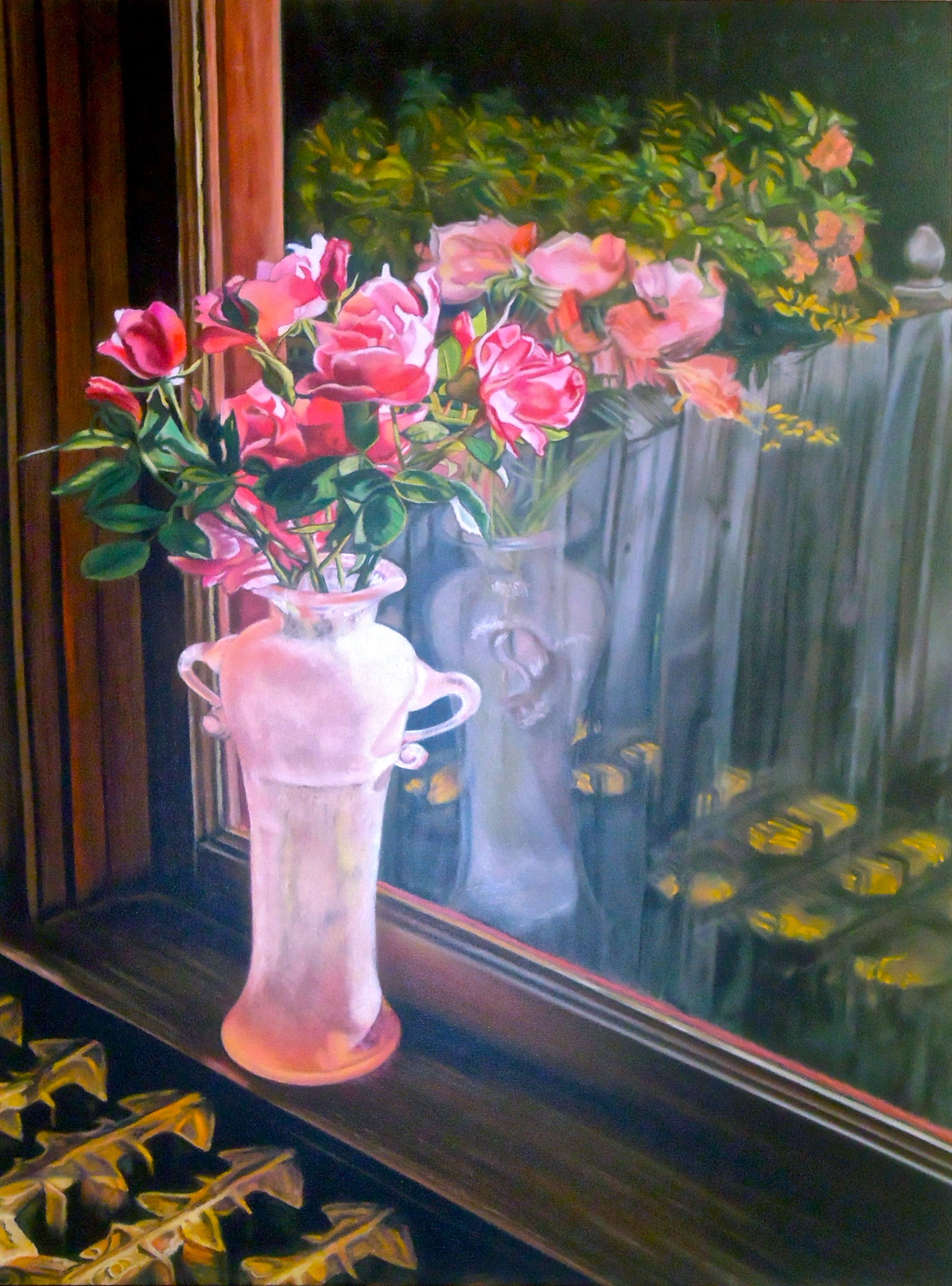 """The Last Roses of Summer"" pastel, 18x23""  AVAILABLE / $295"