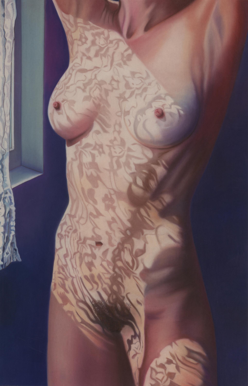 """Lace Curtain"" pastel, 35x60"""