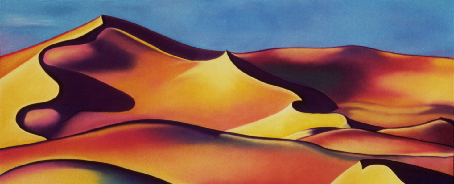 """""""Psychedelic Sand"""" pastel, 26x52"""""""