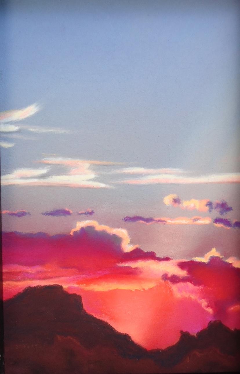 """Desert Sky"" pastel, 5x7""  AVAILABLE / $80"