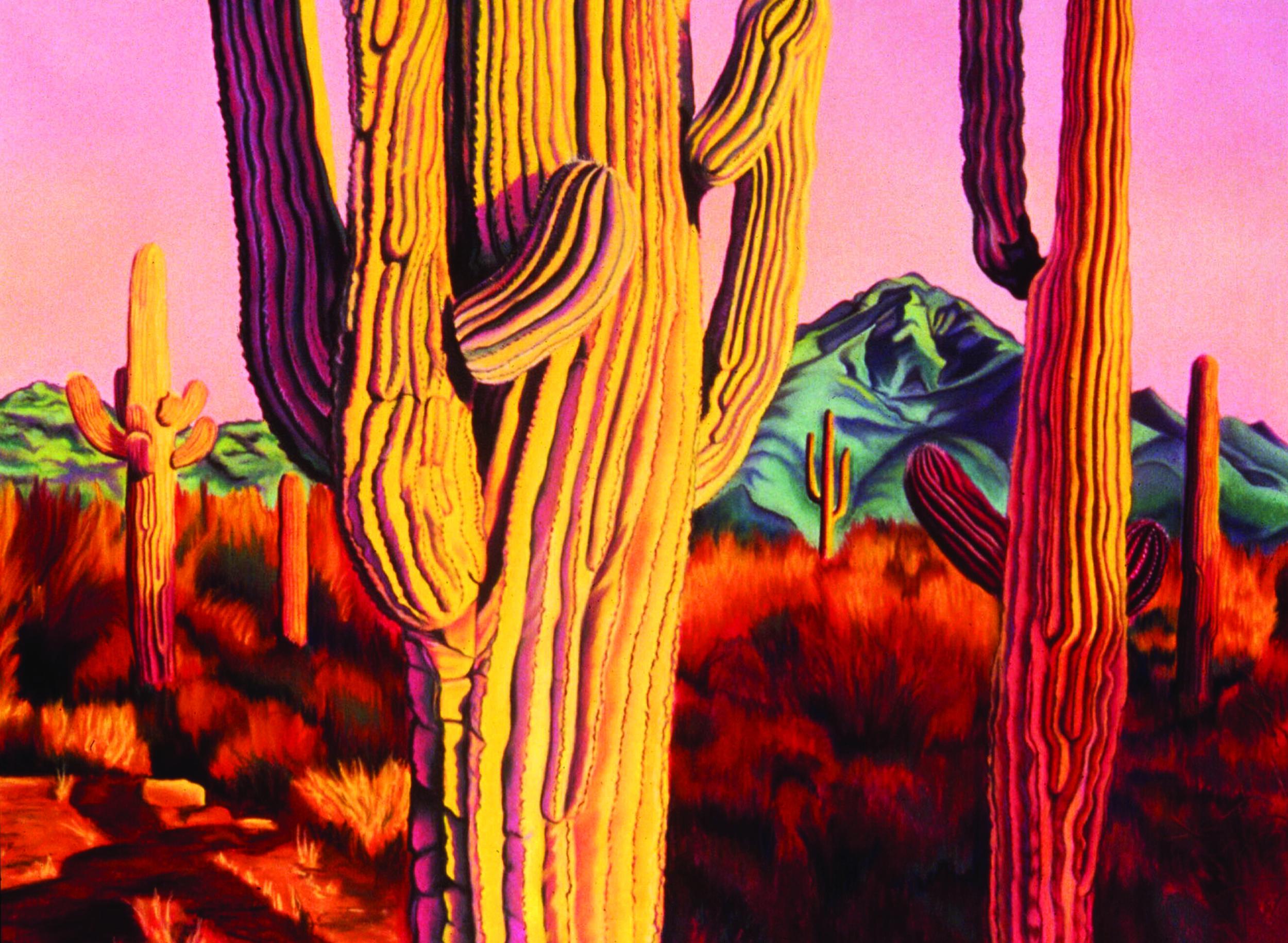 """Arizona Fantasy"" pastel, 40x30"""