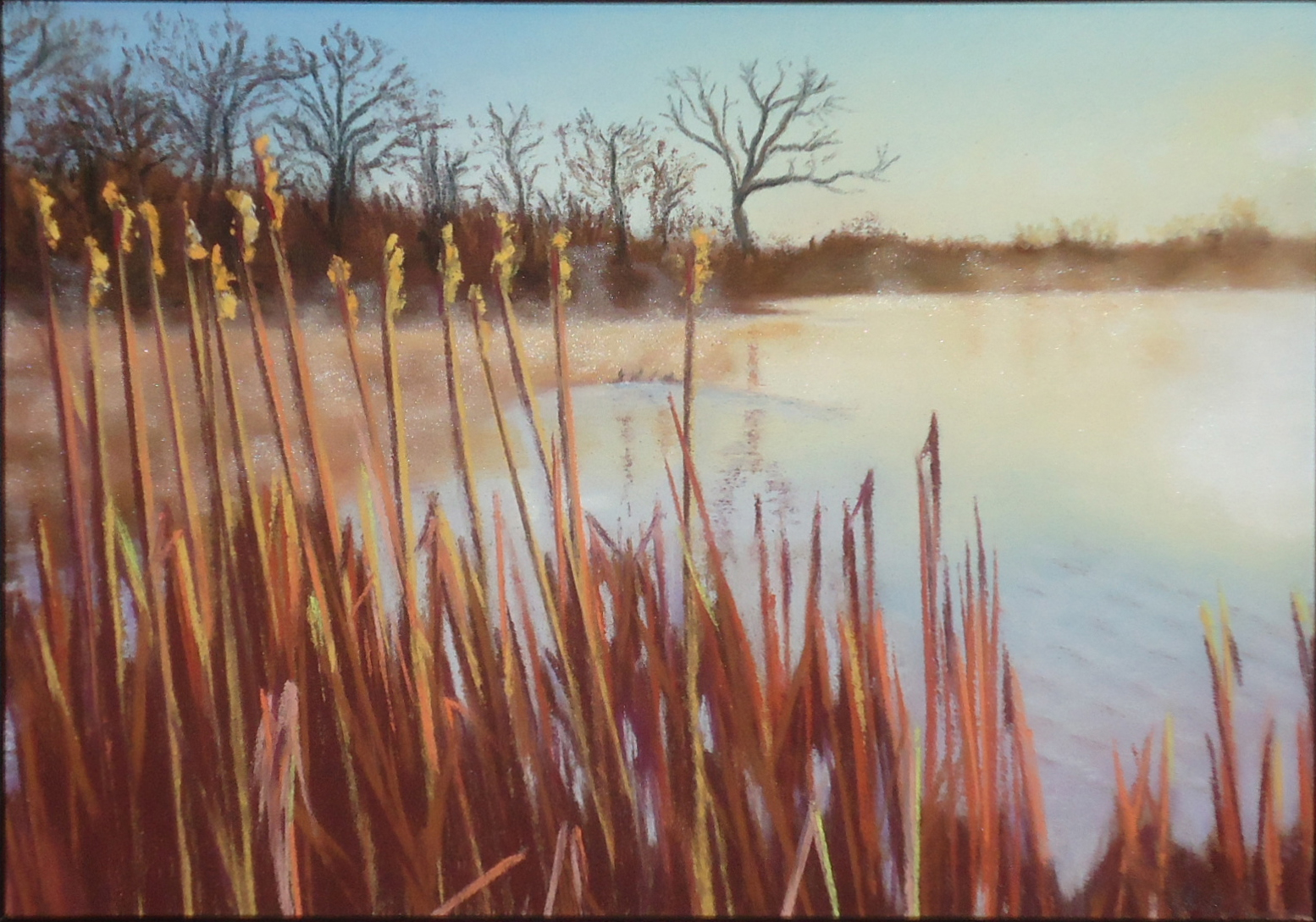 """""""Morning Mist"""" pastel, 5x7""""   AVAILABLE / $120"""