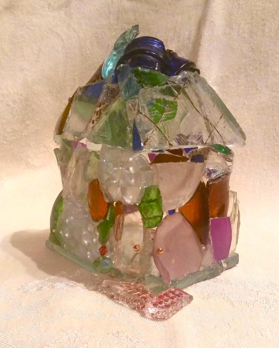 """""""Glass House"""" found glass,4.75"""" x 4.75"""" x 4.25"""" AVAILABLE / $295"""
