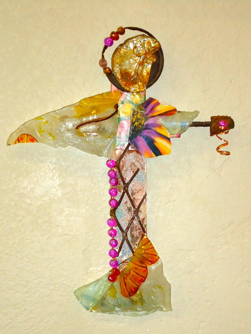 """""""The Gift"""" mixed media, 11""""h x 7""""w"""
