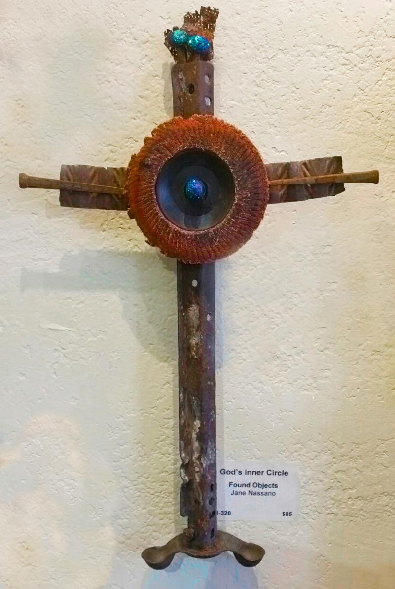 """God's Inner Circle"" mixed media, found object"