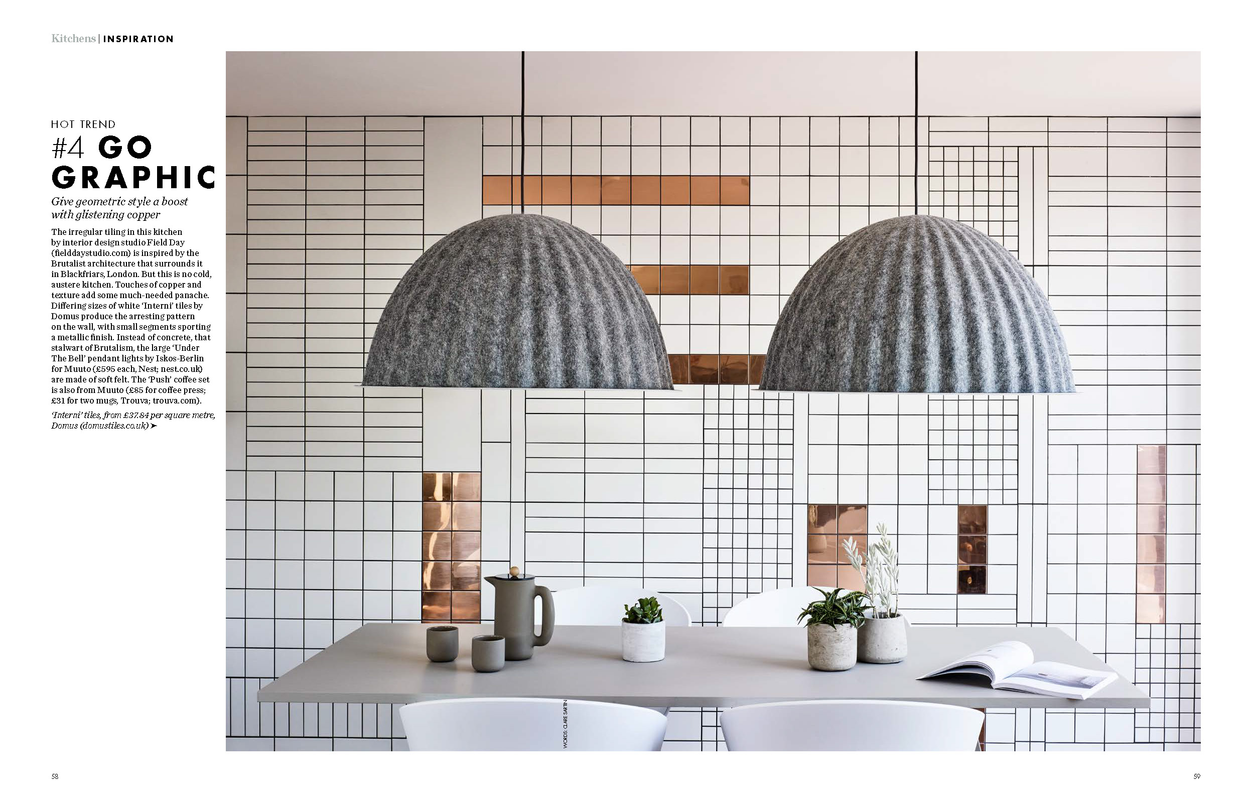 ELLE DECORATION, KITCHEN INSPIRATION 2017