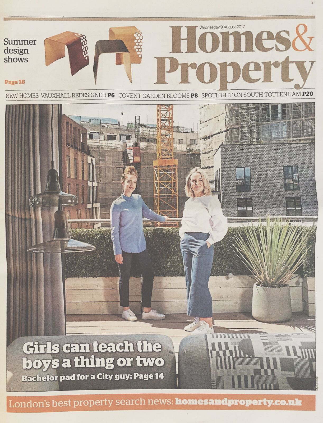 EVENING STANDARD, HOMES AND PROPERTY FEATURE, AUGUST 2017