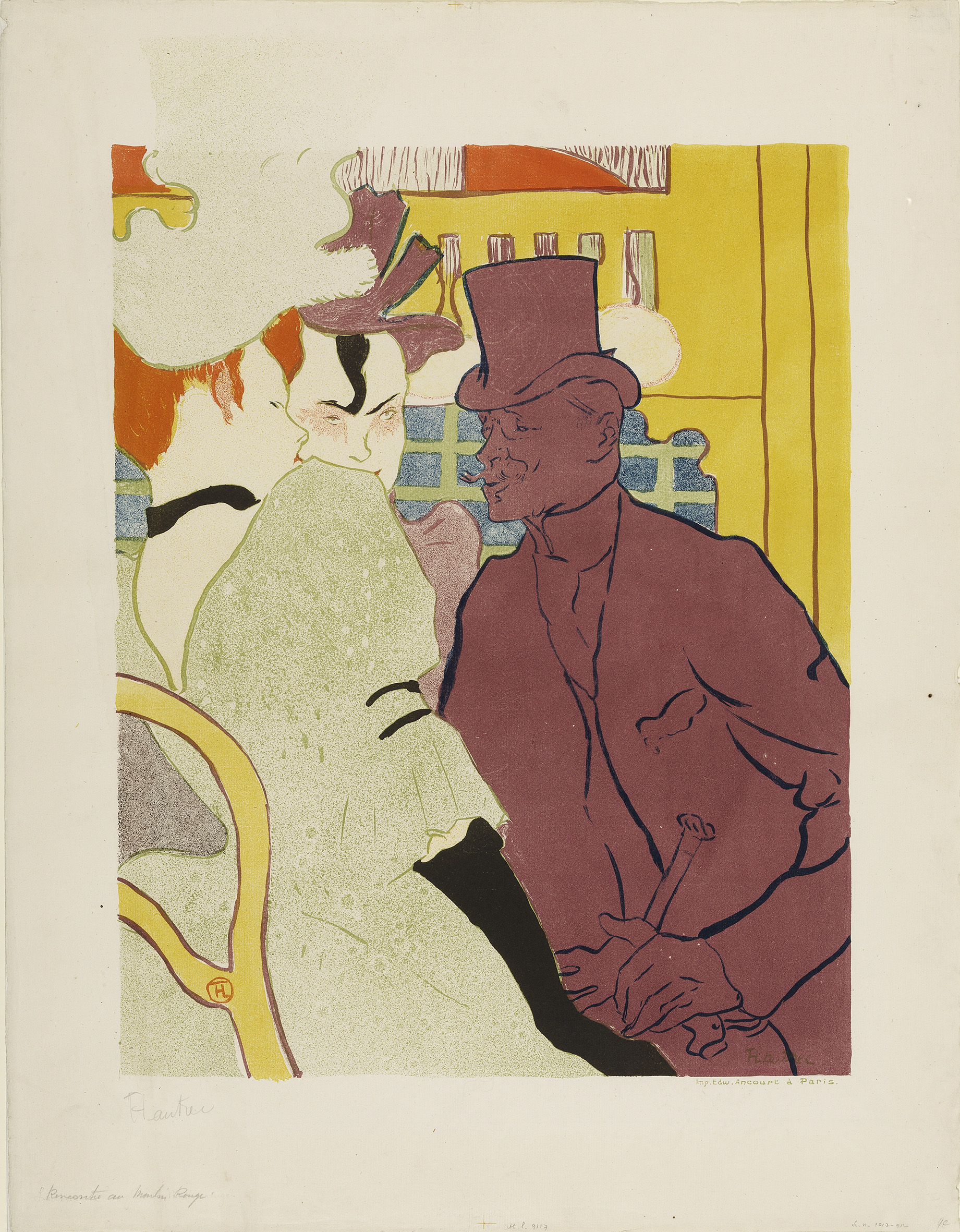 Henri de Toulouse- Lautrec : The english man at the Moulin Rouge 1892