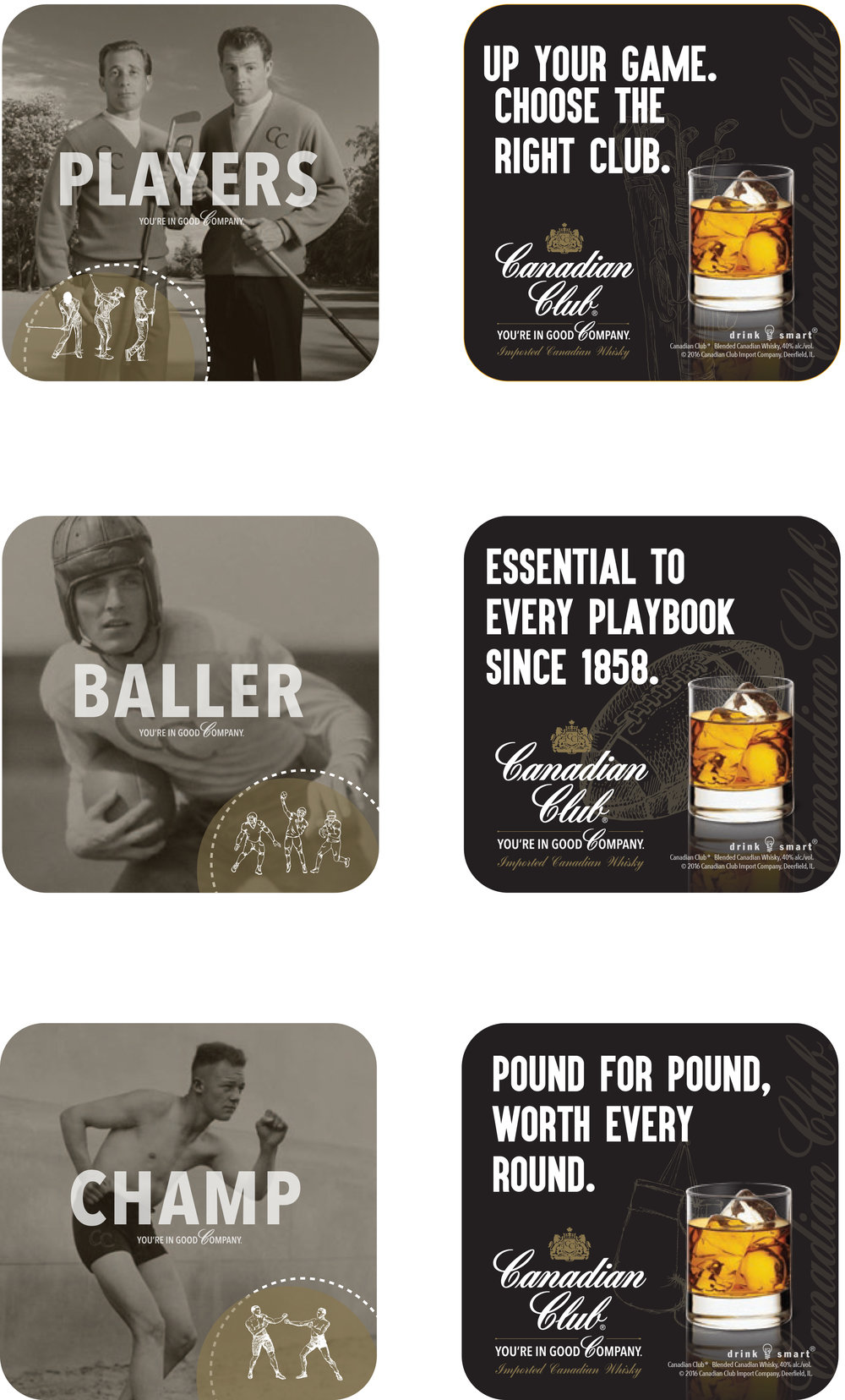 Canadian Club Activation - Coasters