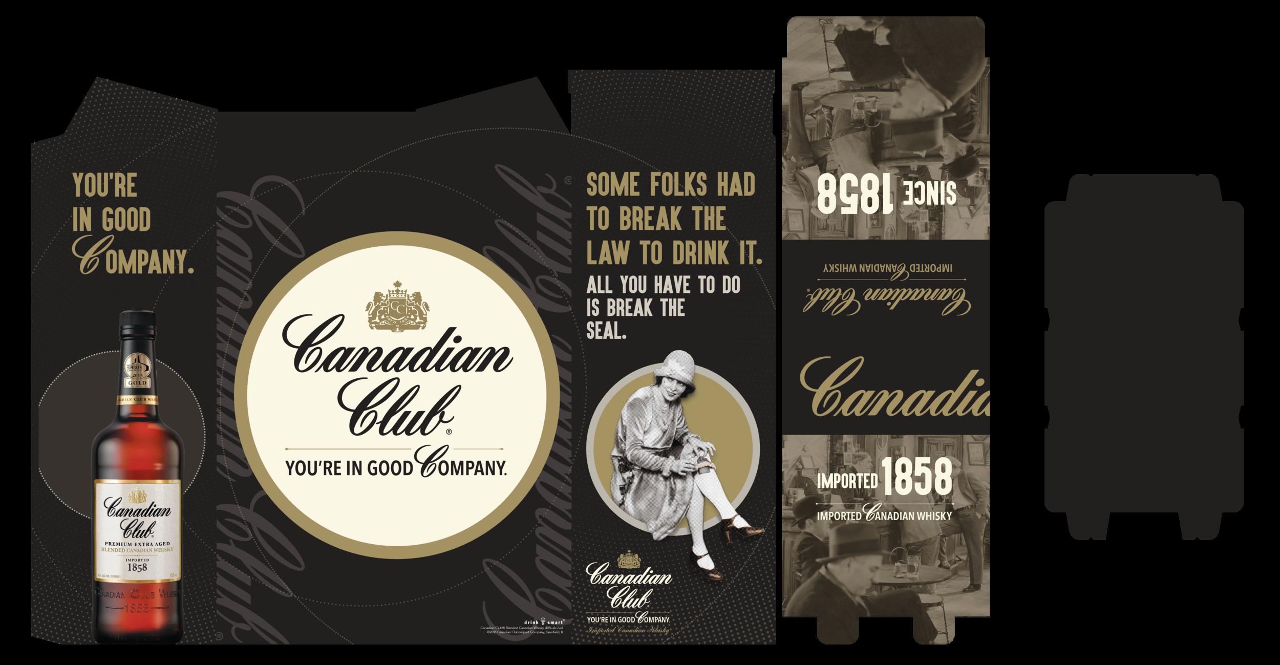Canadian Club Activation - 1858 3 Case Bin