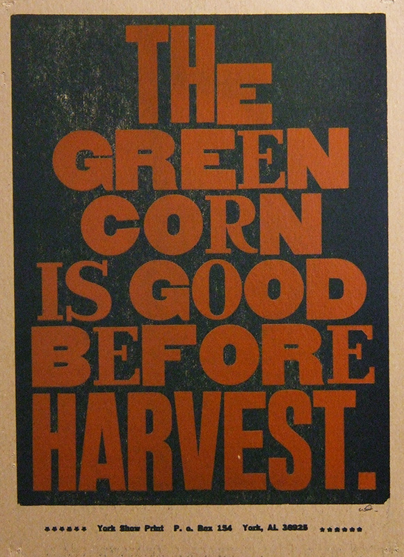 The Green Corn is Good Before Harvest