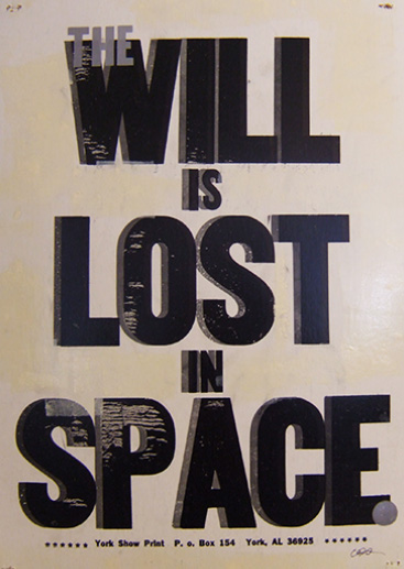 The Will is Lost in Space