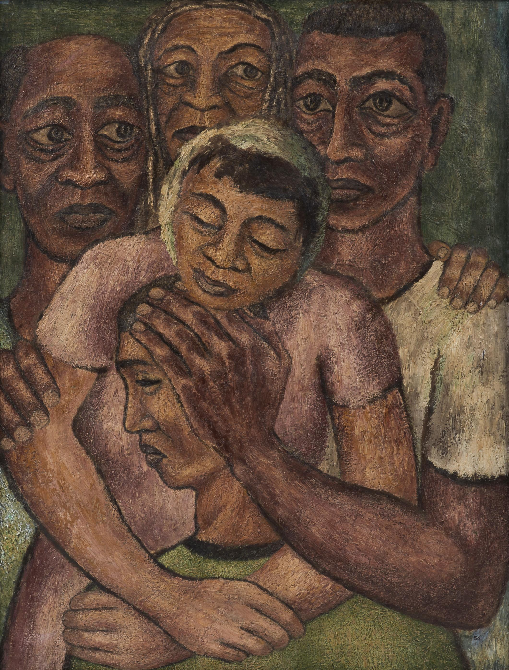 Hayward Oubre (1916-2006) , Prodigal Son, c. 1956; oil/canvas