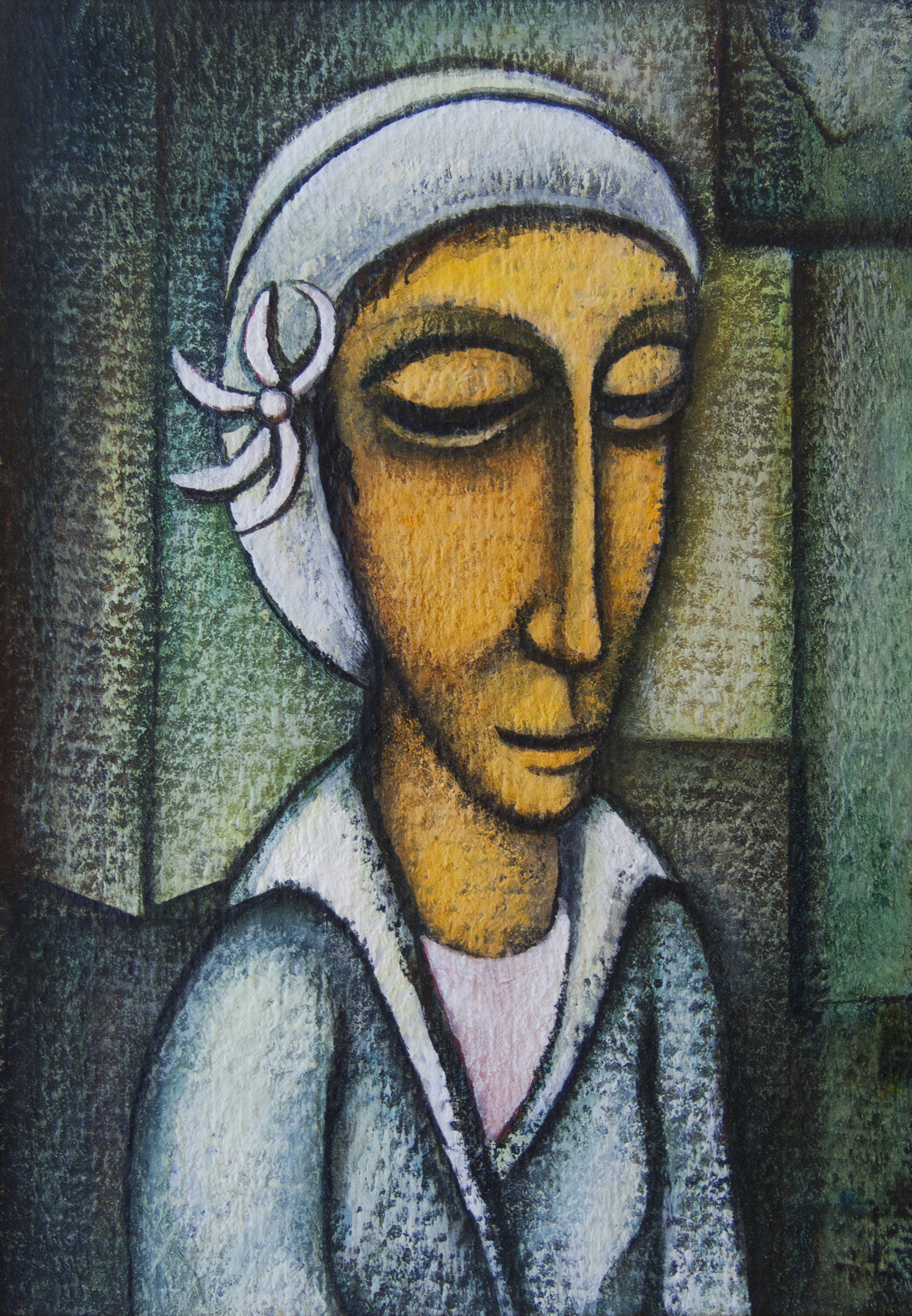 Untitled (Woman in a White Headdress)