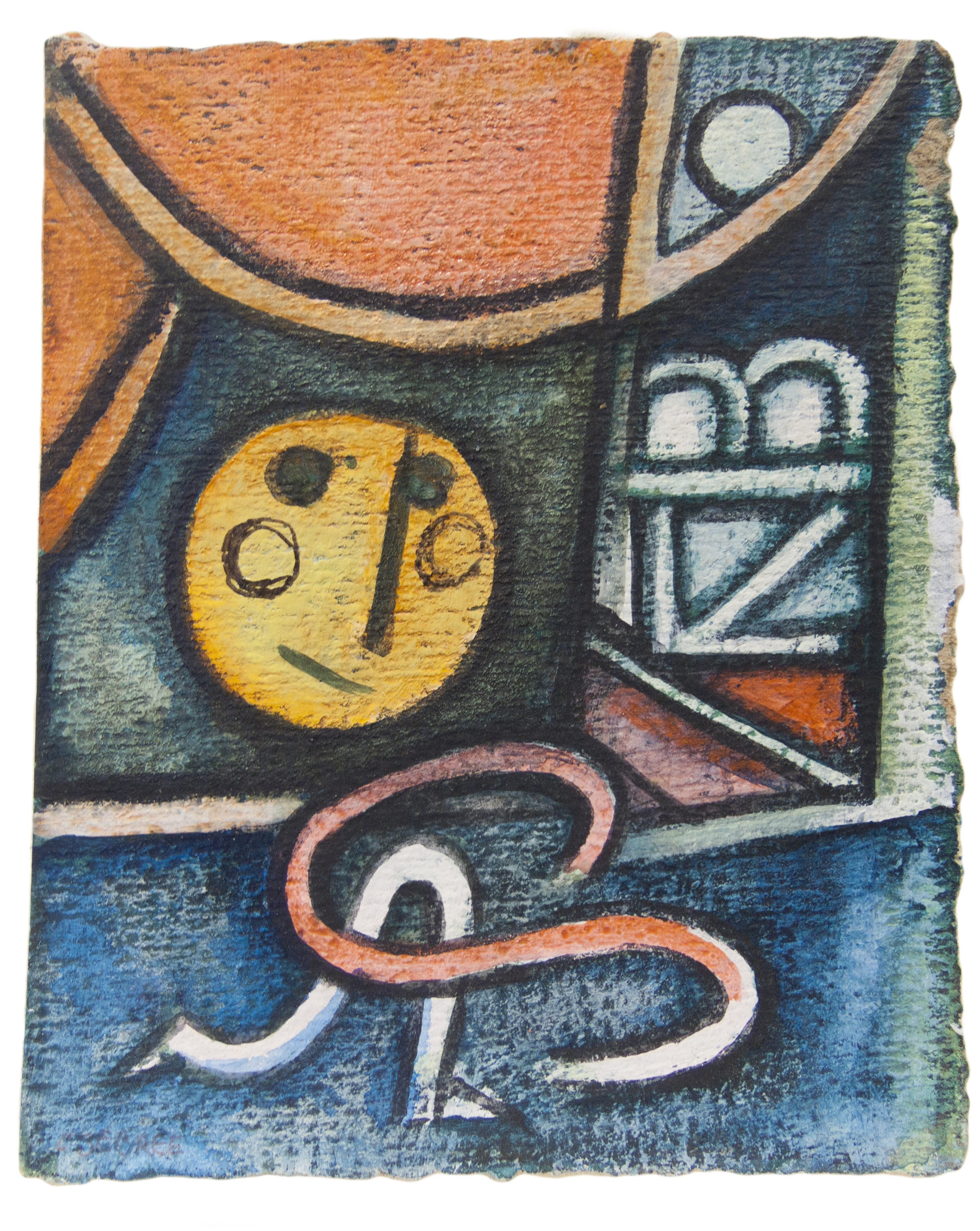 Untitled (Figure in a Geometric Composition)
