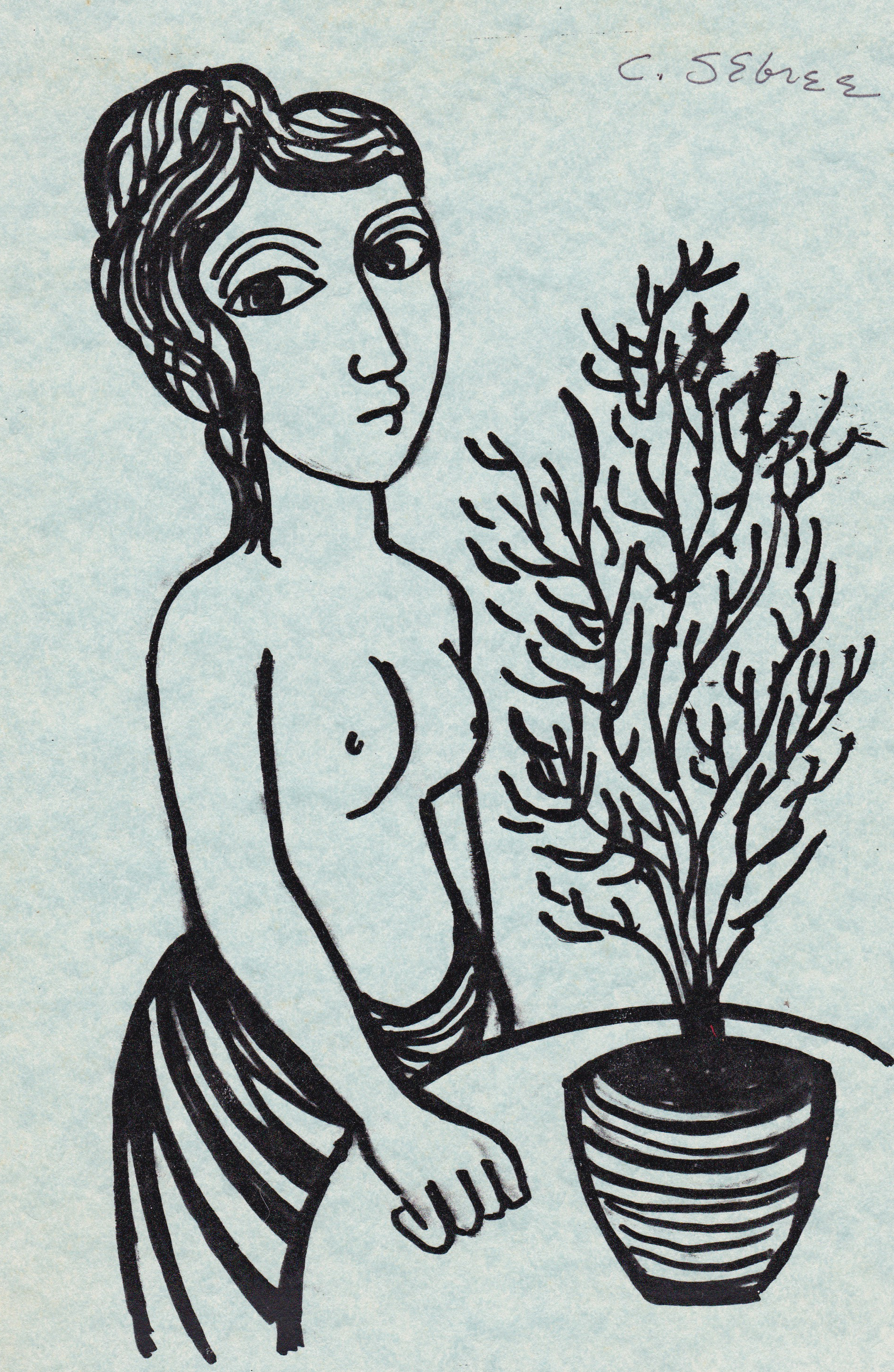 Untitled (Woman With Plant)