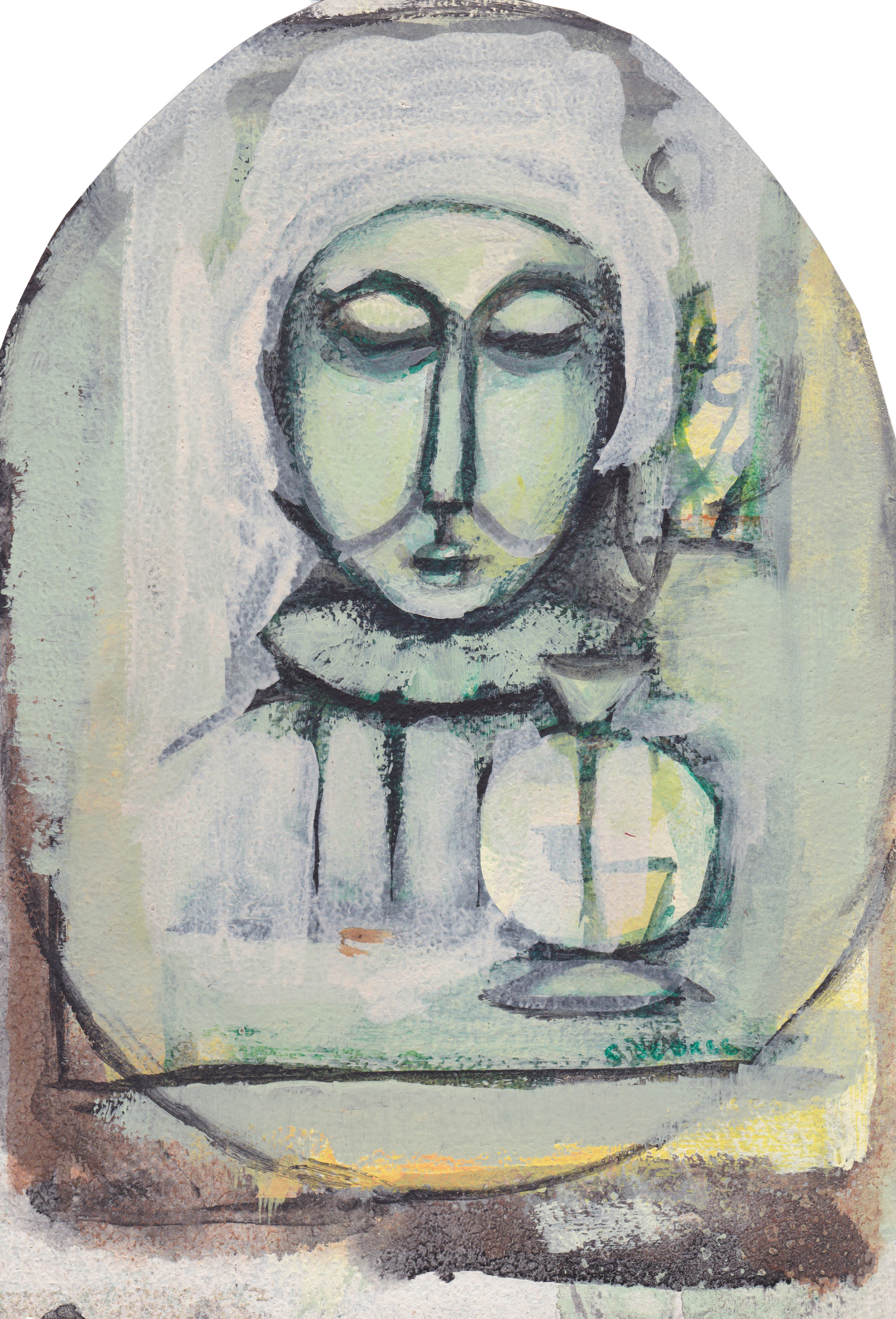 Untitled (Man With a White Vase)