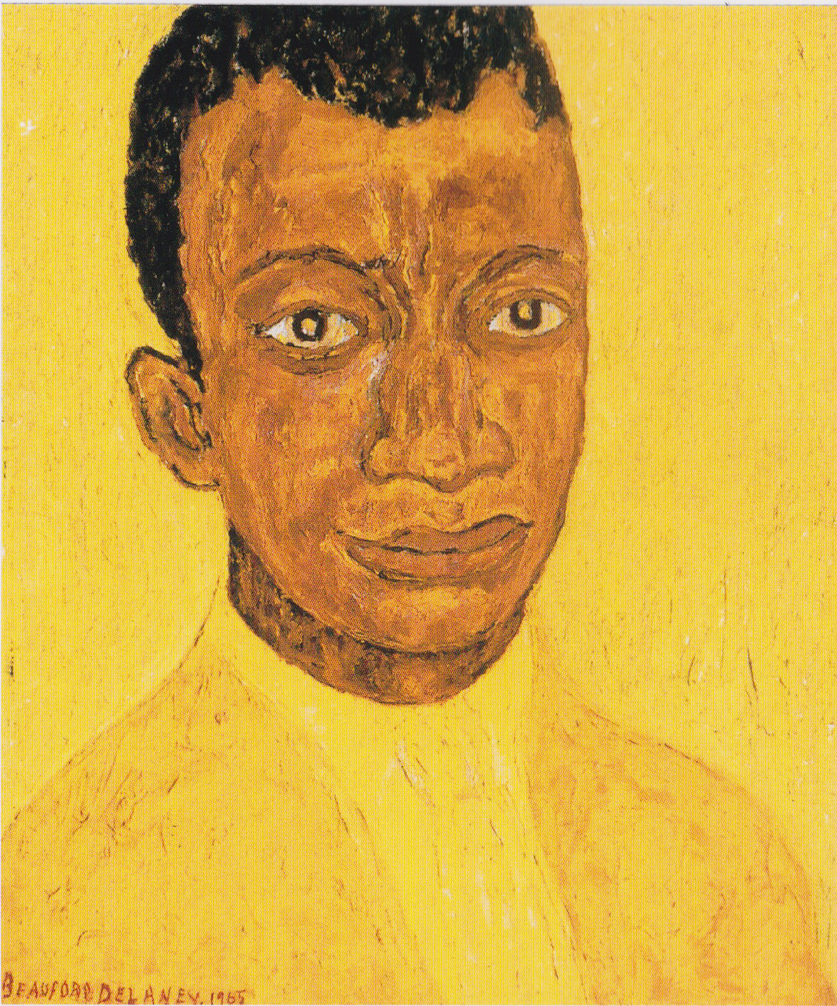 Portrait of James Baldwin  , 1965;oil on canvas