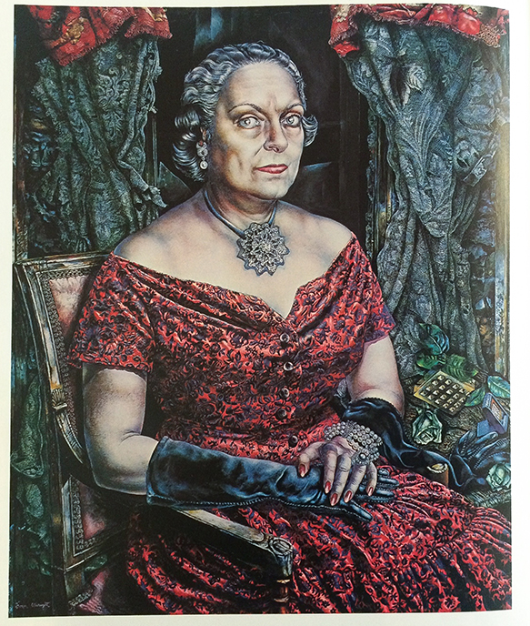 Plate 73,  Portrait of Mary Block  ,c. 1955-57;oil on canvas;Art Institute of Chicago