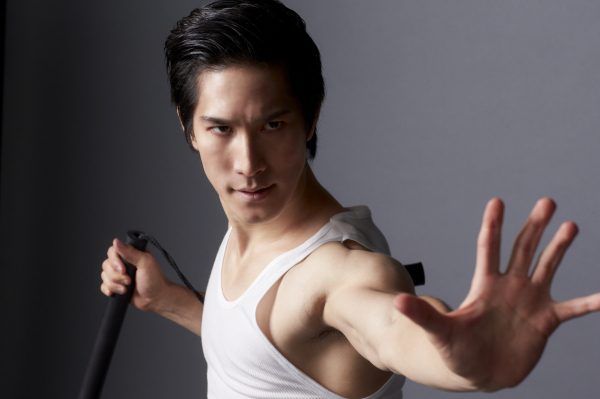 Cole Horibe   as Bruce Lee in   Signature Theatre's KUNG FU   by   David Henry Hwang