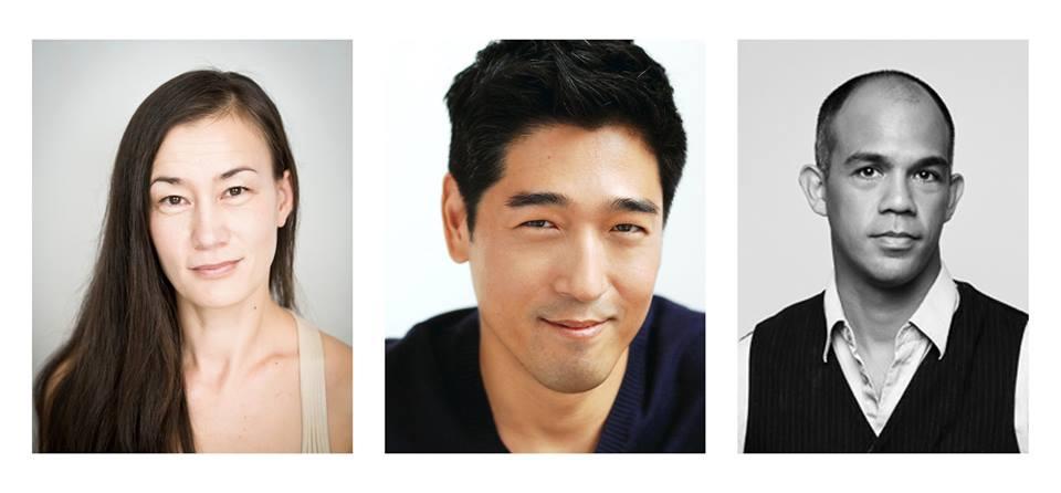 (L to R) Marnia Celander, Peter Kim and Orlando Pabotoy, this year's 2014 Lilah Kan Red Socks Award recipients.