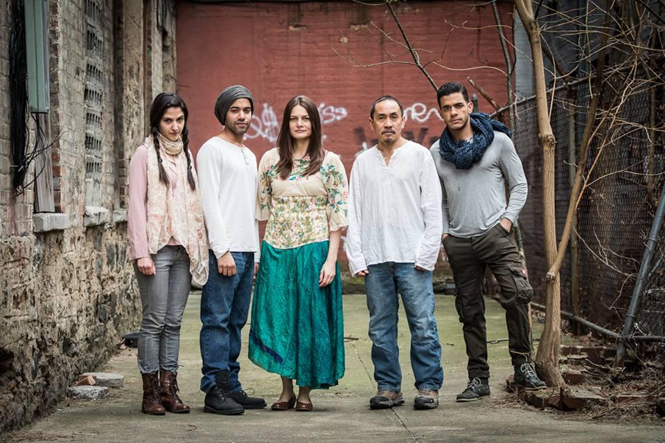 Cast of   3rd Kulture Kids  ' production of   Moahamed Kacimi    HOLY LAND  at  HERE Arts Center  .