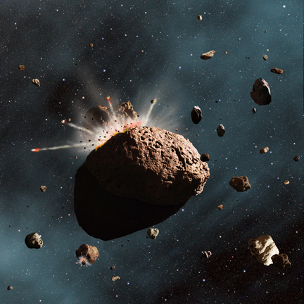 Kaboom! In the Asteroid Belt