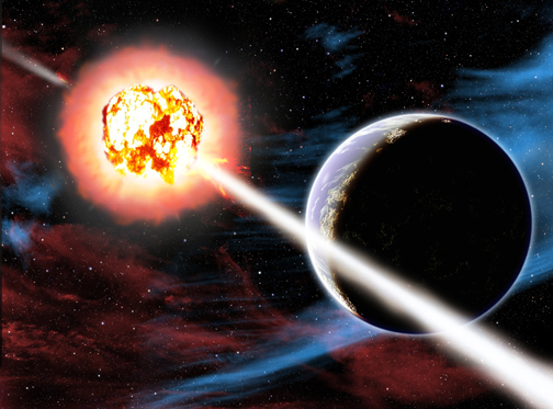 "Gamma-Ray Burst from ""Cosmic Catastrophes"""
