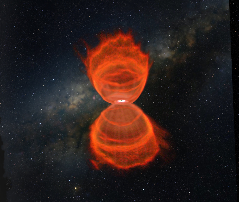 "Hourglass Nebula from ""7 Wonders of the Milky Way"""