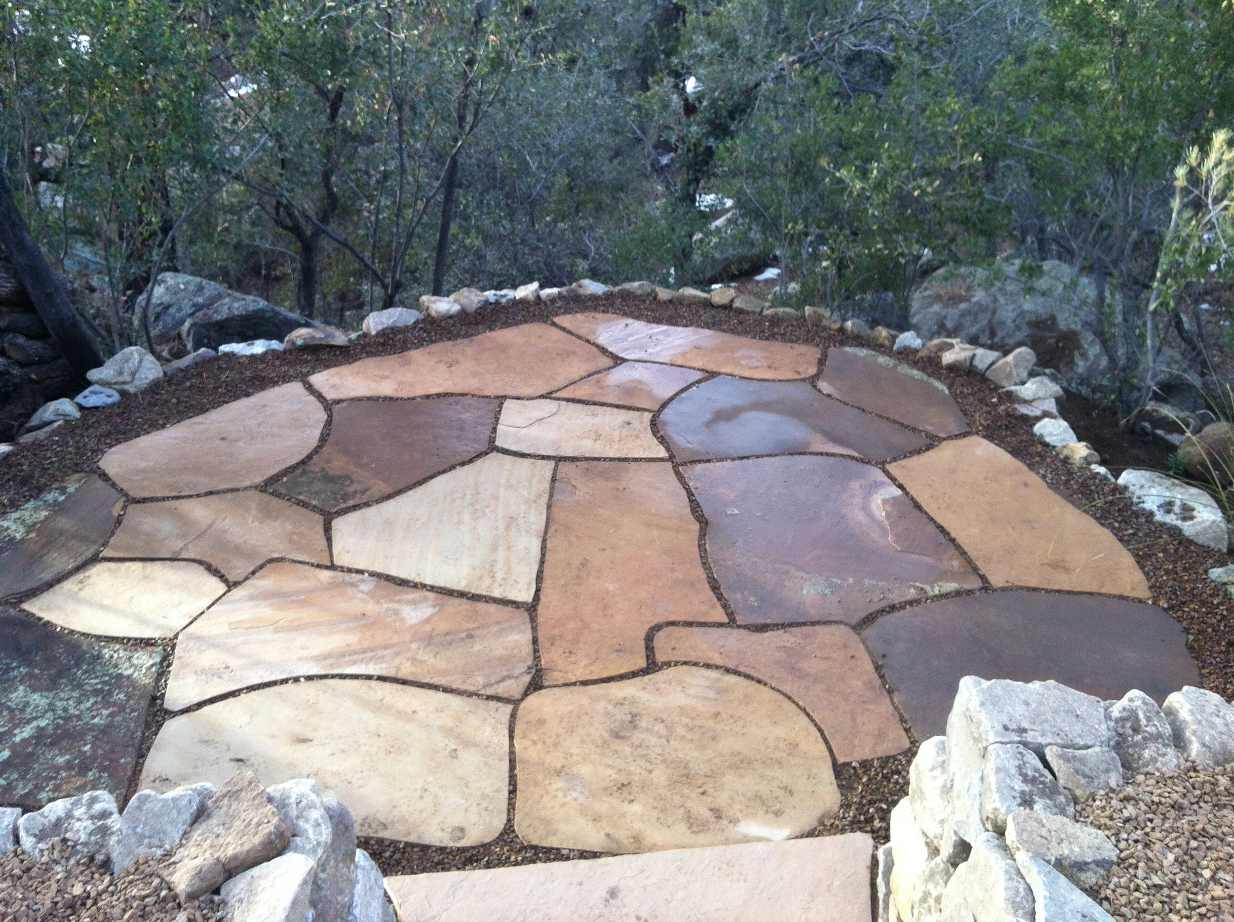 Flagstone patio in Prescott