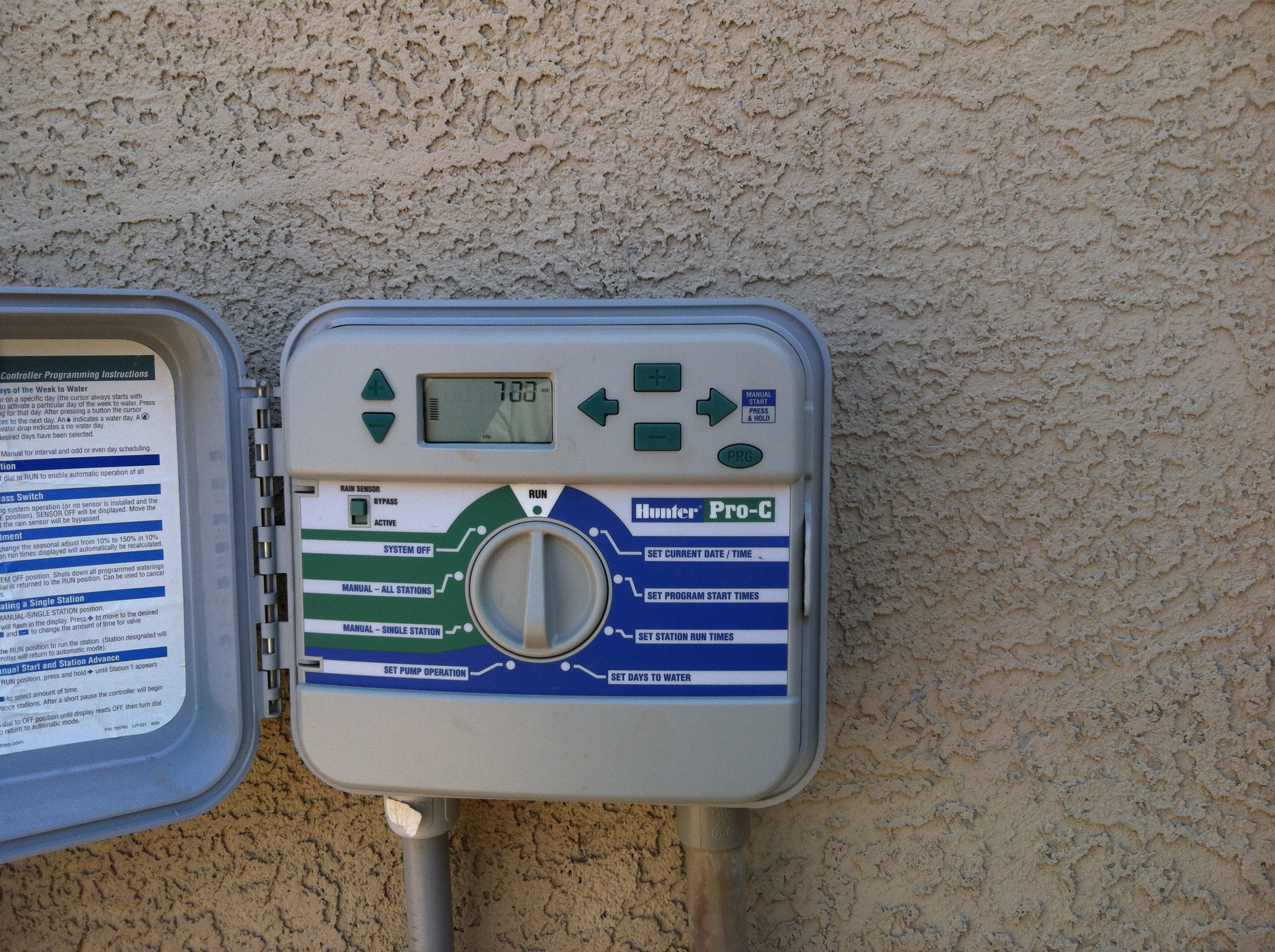 Irrigation timer box