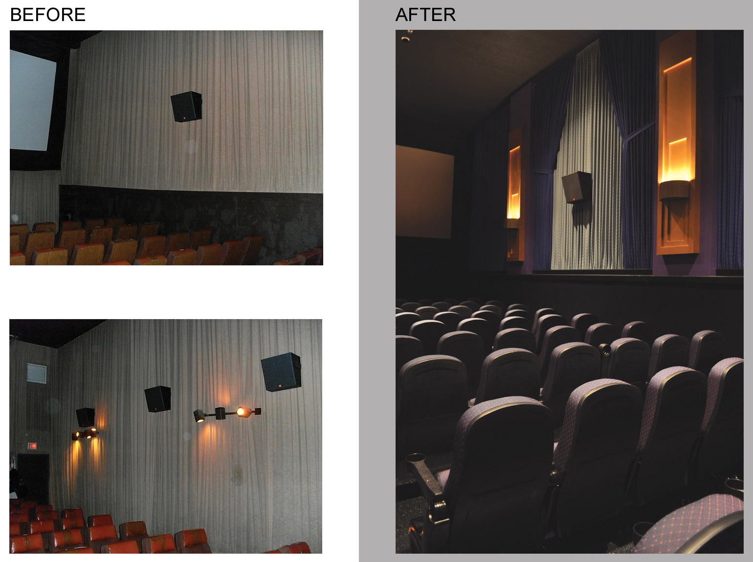 AUDITORIUM - BEFORE/AFTER