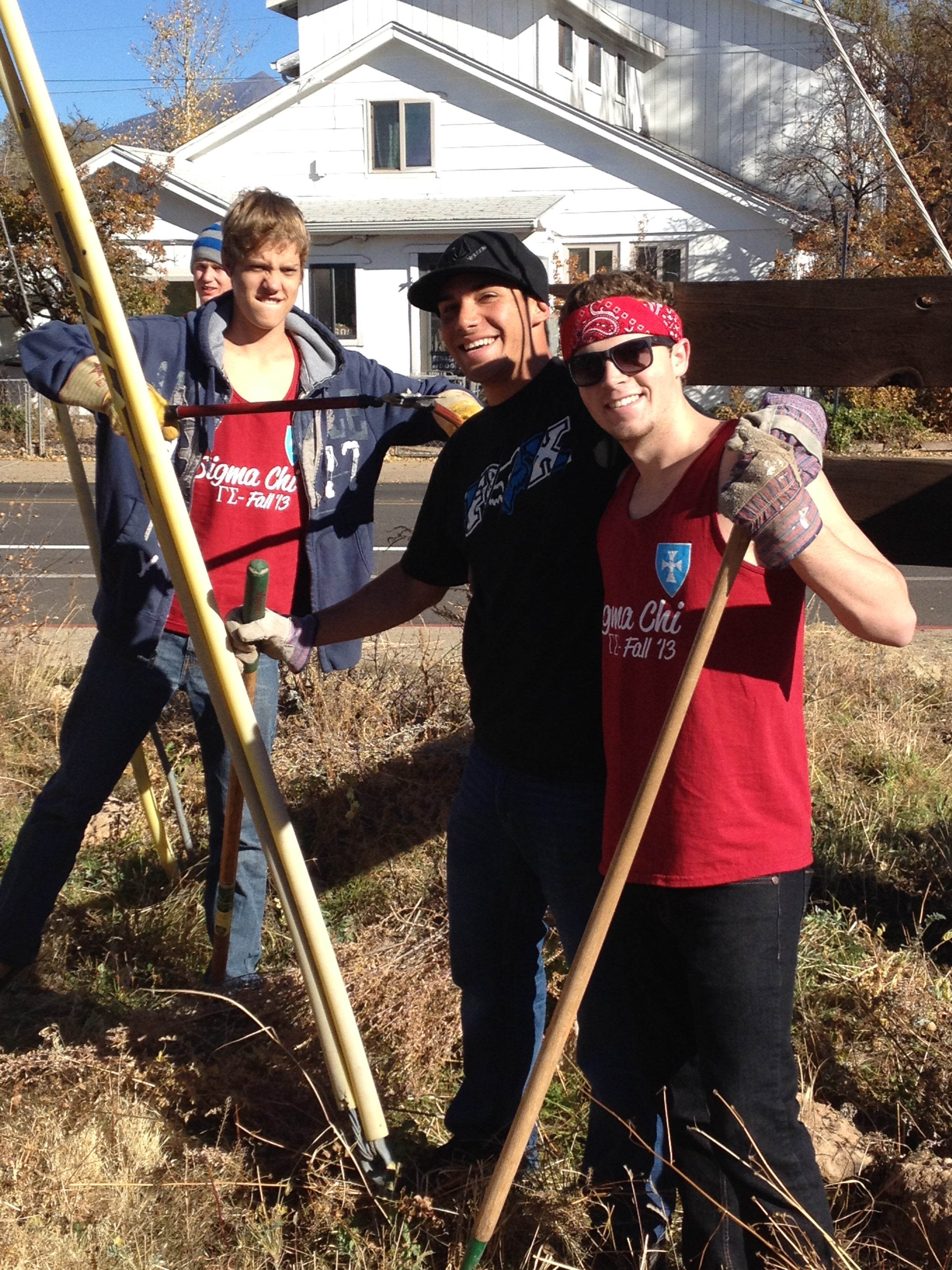 For Project GIVE's Make a Difference Day, HFHNA ran seven of the sites!