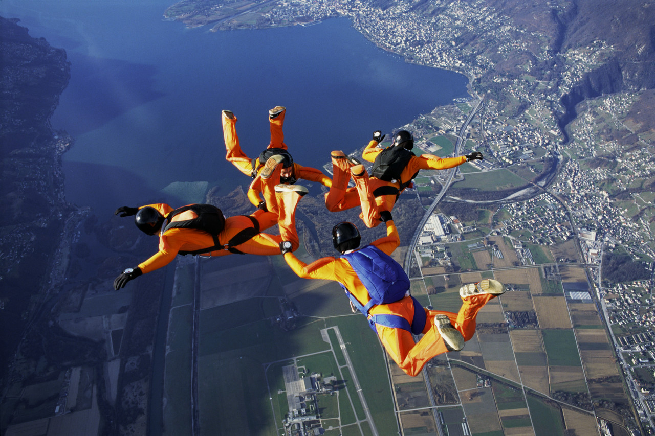 Jumping Together with Personally Packed Parachutes!