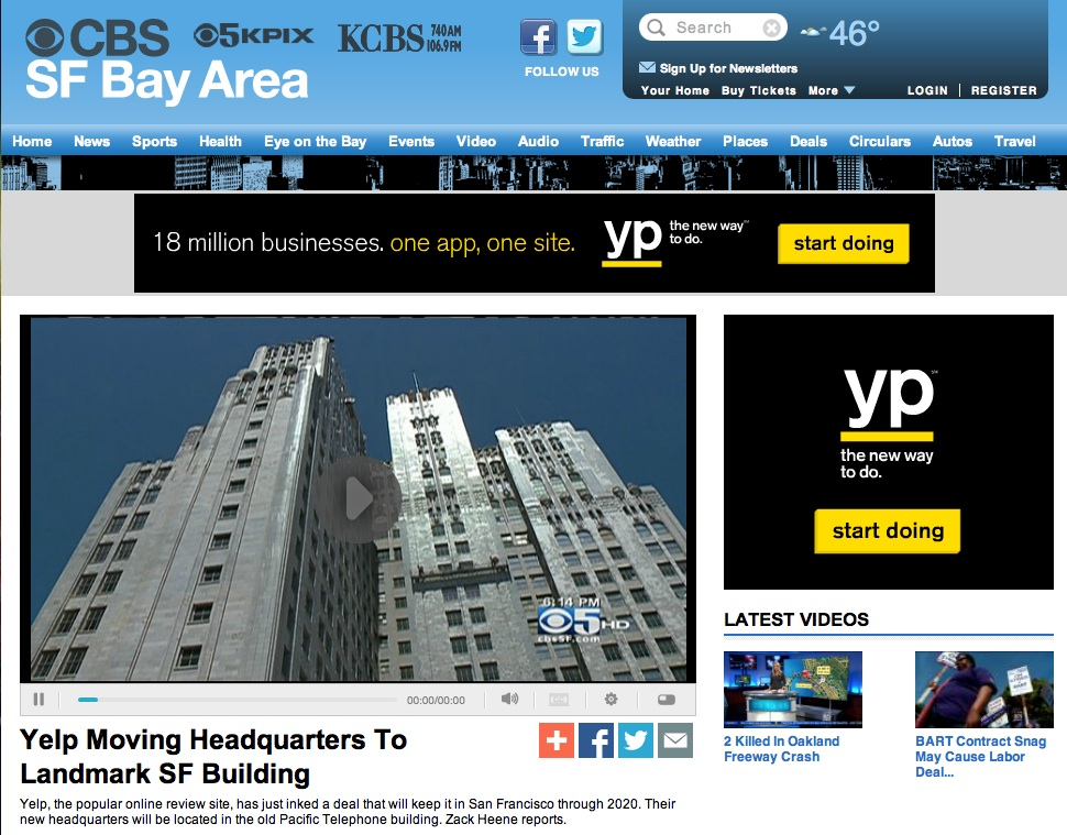 CBS television news story on 140 New Montgomery Building