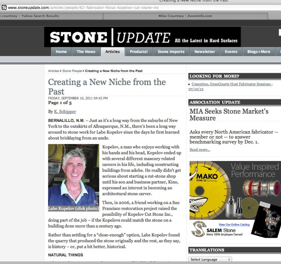 Story in Stone Update about quarry of stone from abandoned Sespe Sandstone Quarry