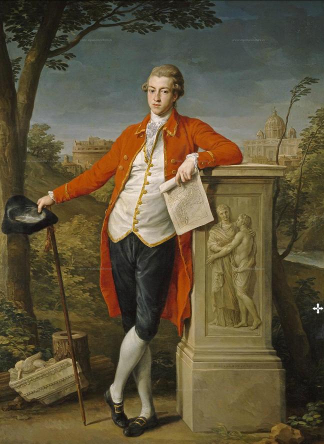 Pompeo Batoni's portrait of Francis Basset, 1st Baron of Dunstanville.