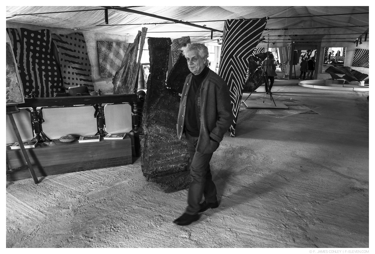 Fabrizio Ruggiero in his Tuscan studio.
