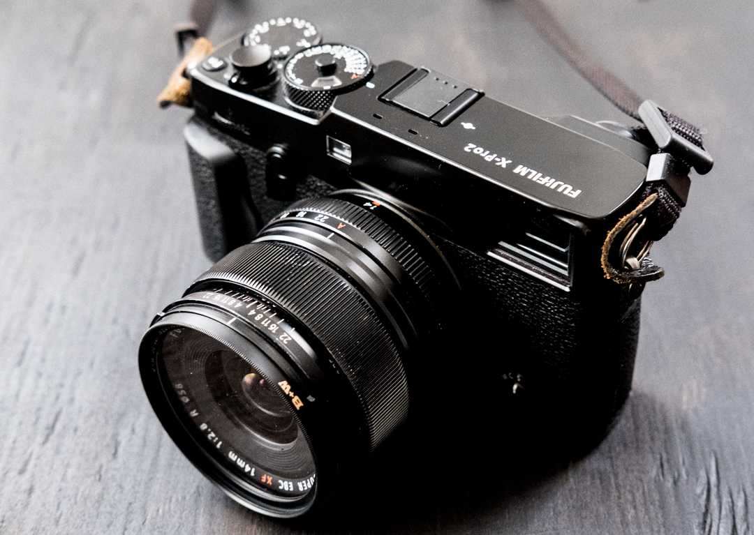 The X-Pro2 photographed with an X-T2.