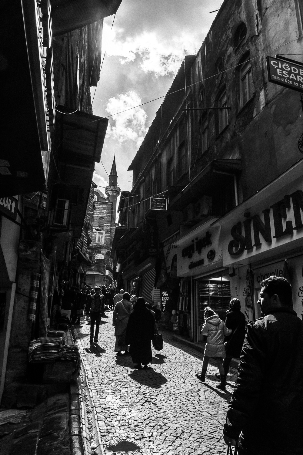 Chiaroscuro in Istanbul. The technique is marked by the use of strong tonal contrasts. Upon developing images I made in Istanbul, I was surprised at how often I used chiaroscuro to illustrate my perceptions of the dual nature of the Turks. You can read more about that:  here .