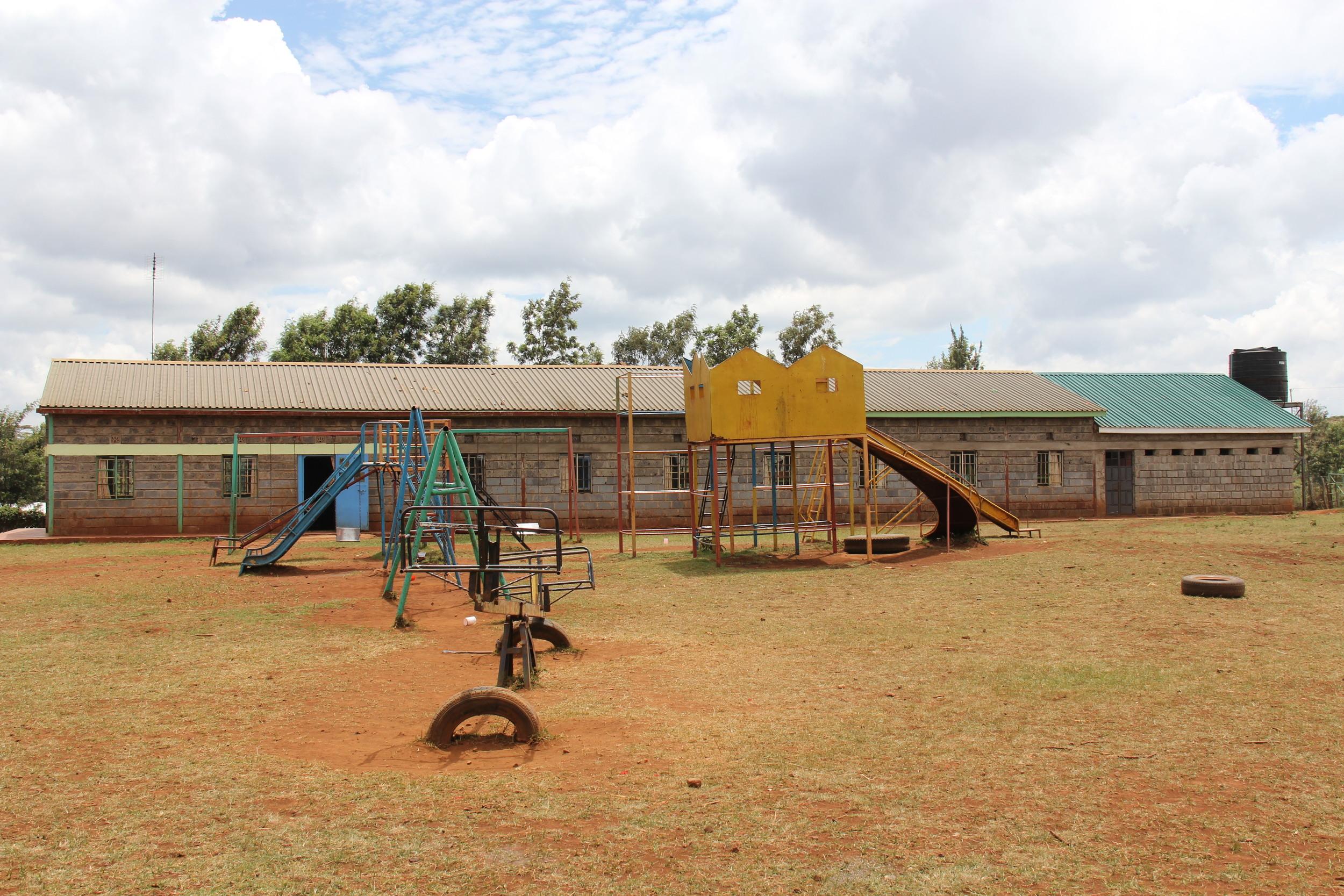 Boys' Dorm & playground