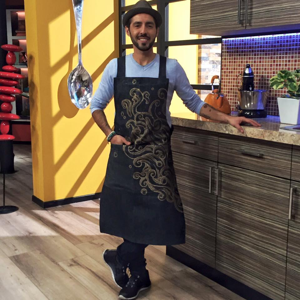 Mandil para el Chef Yogui del programa HOY