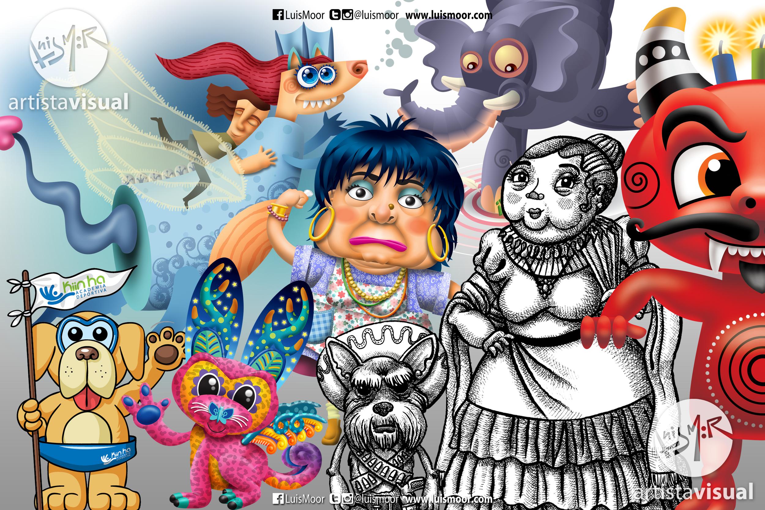 Diseño de personajes para diferentes proyectos/medios