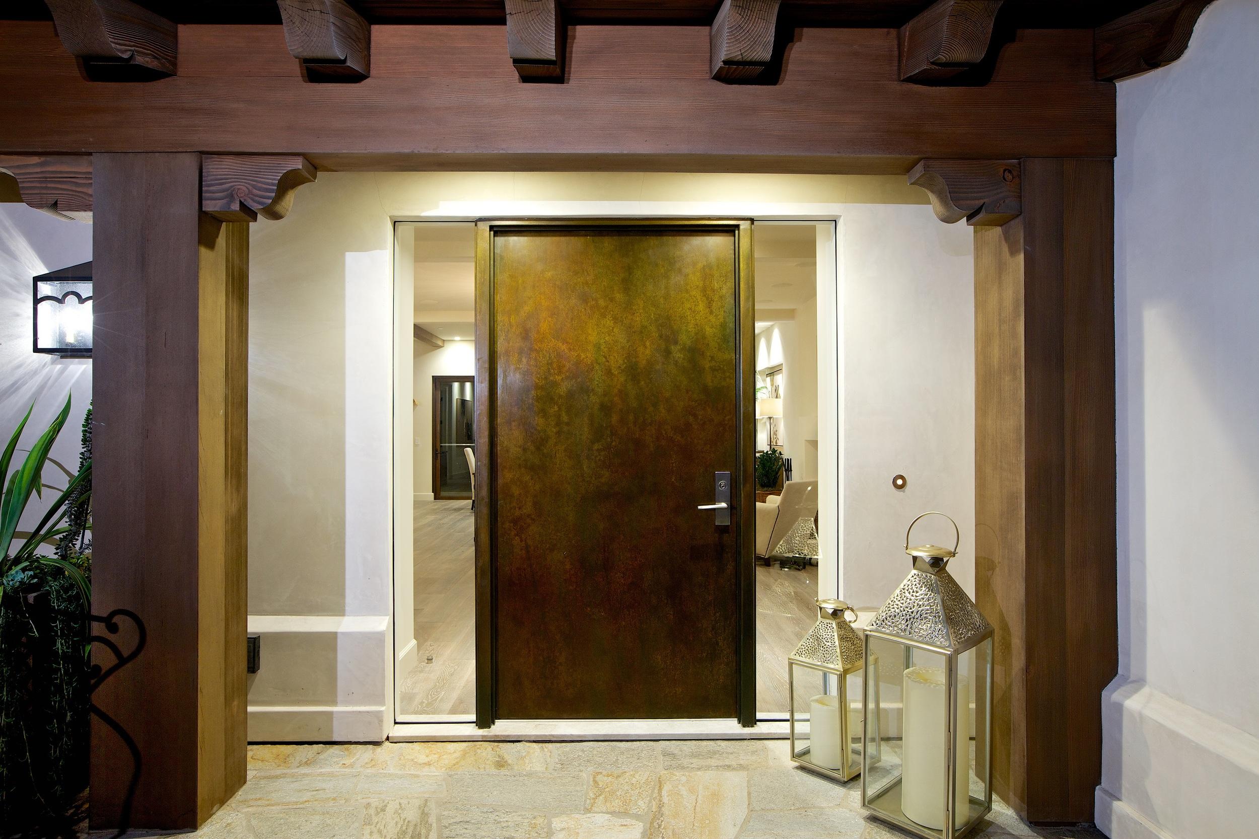 Custom Hand Forged Iron Entry Door