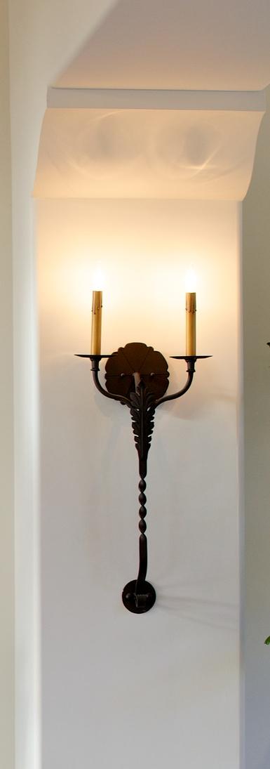 Custom Iron Detailing & Hand Forged Iron Sconce