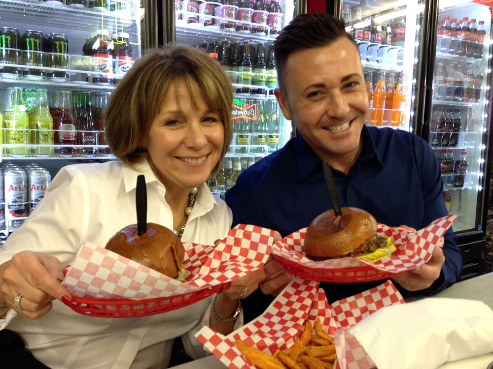 Betsy and Eric enjoying Stantons!